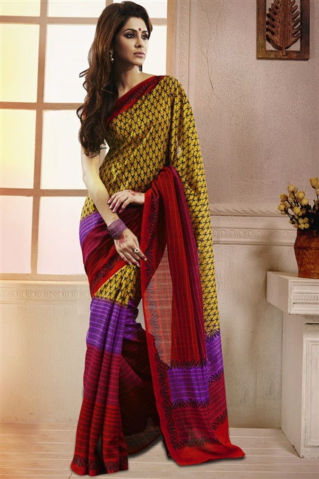 Attractive Bhagalpuri Silk Saree from SareesBazaar