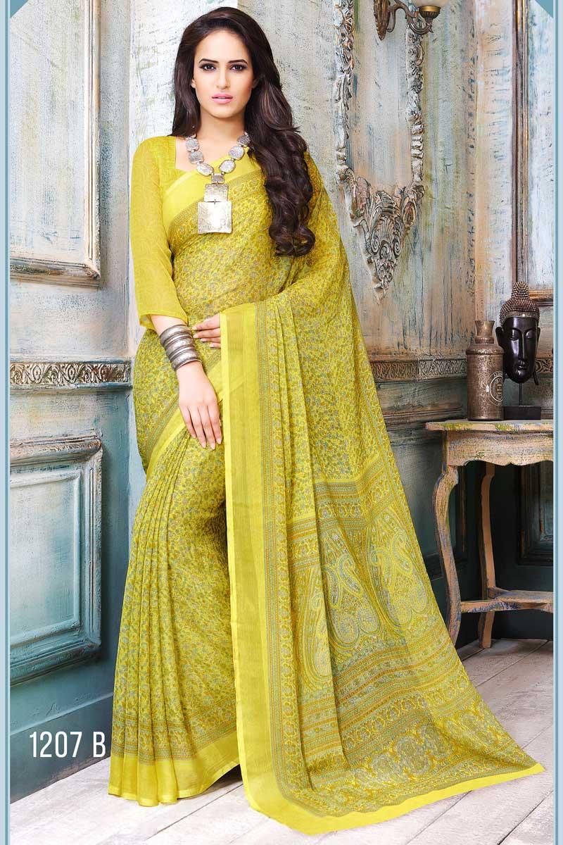 Fancy Print Designer Saree Collection from SareesBazaar