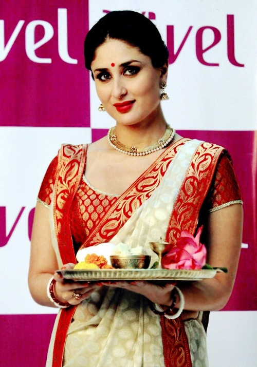 Kareena Kapoor in Bengali Saree in a brand promotion