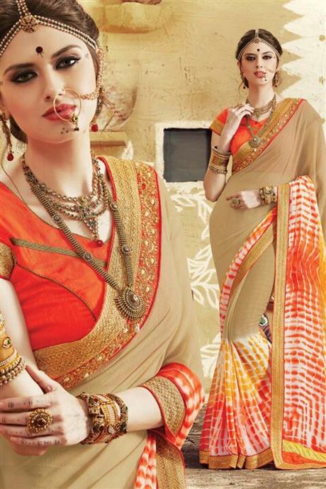 Designer Bandhni Saree
