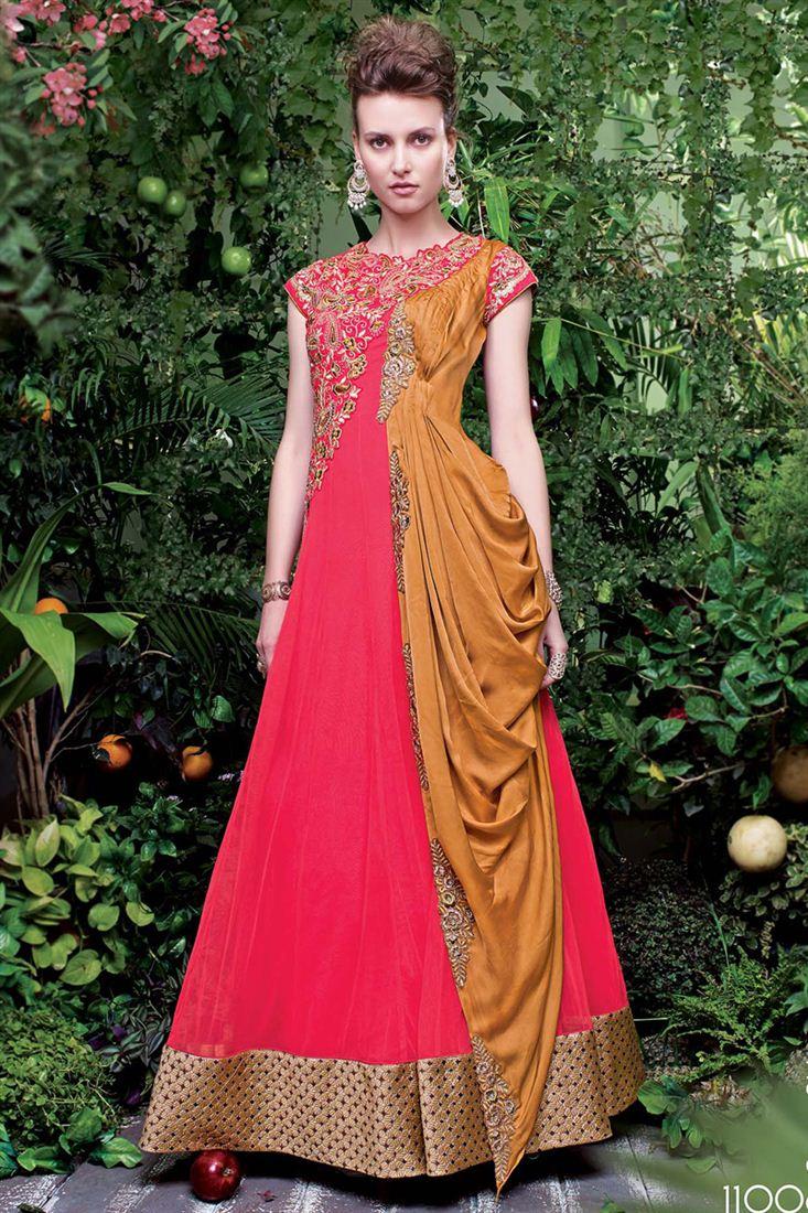 Wedding Wear Designer Net and Satin Gown