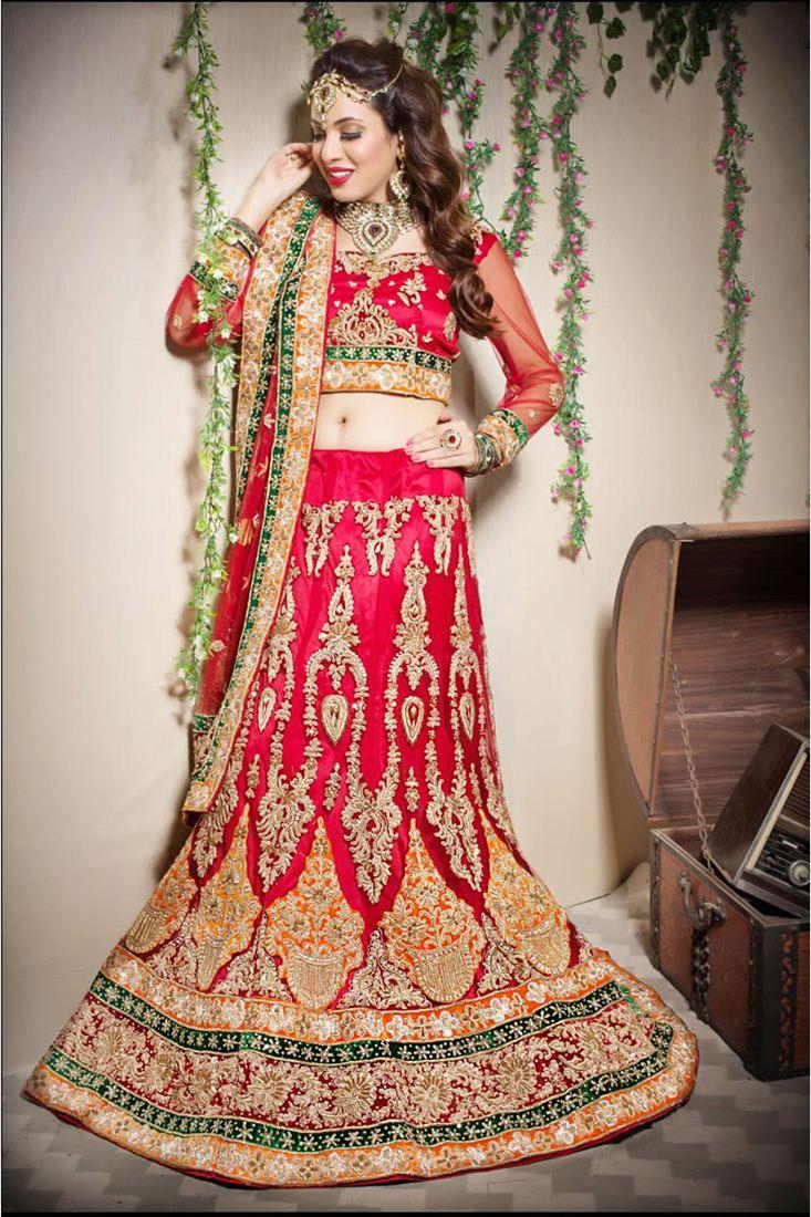 Wedding Bridal Embroidered Designer Lehenga Choli