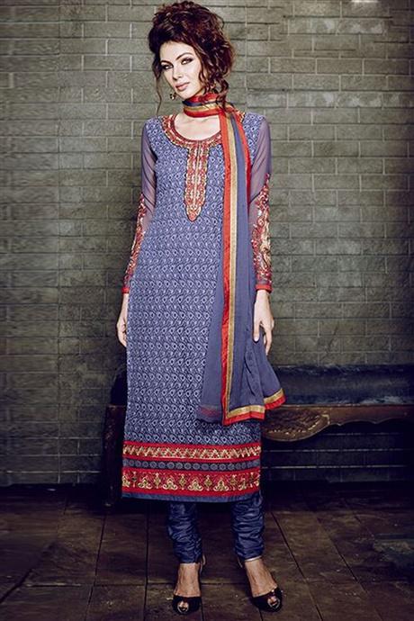 Straight Cut Dress Design from SareesBazaar