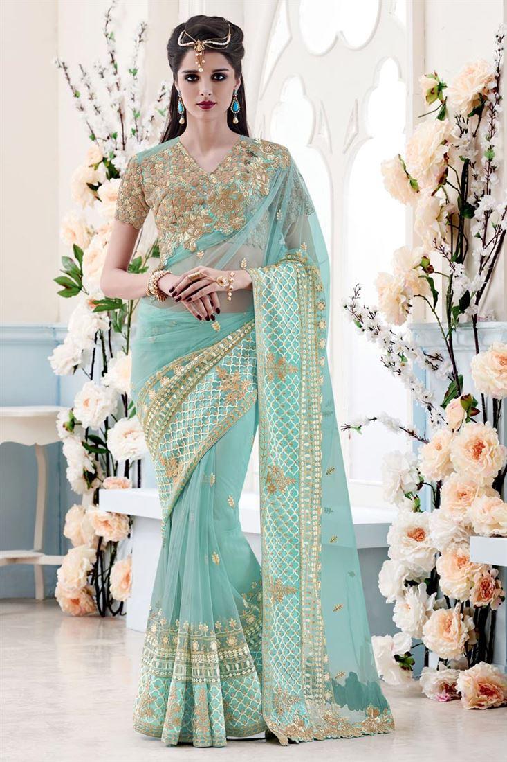 Appealing Designer Net Sarees to Look Glamorous | SareesBazaar Blog ...